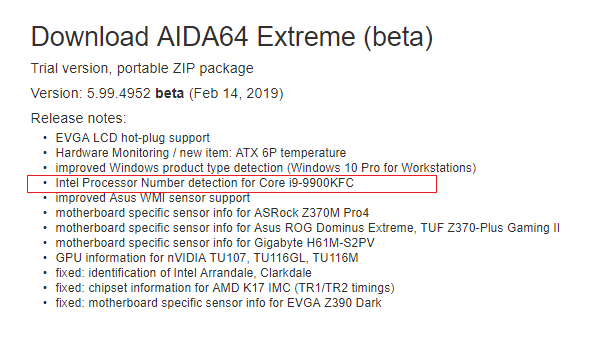 Intel Core i9-9900KFC