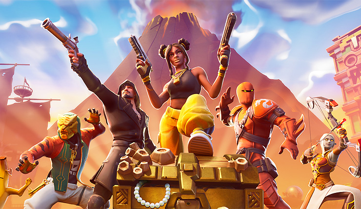 fortnite season 8 erupts adding new map points pirate cosmetics a ping system and more - all pirate bases fortnite