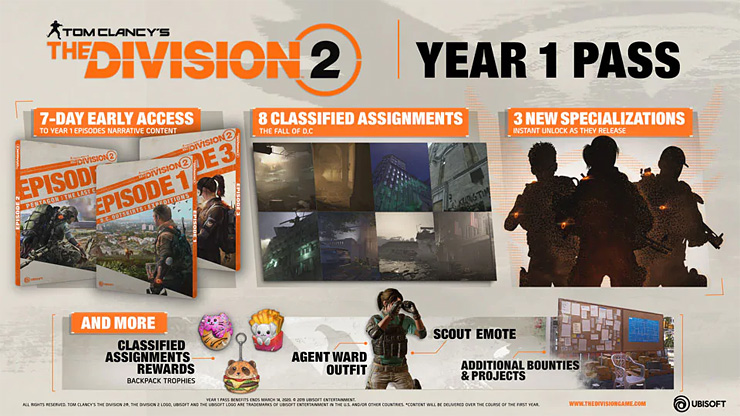 The Division 2 details free post-launch content, Year 1 Pass