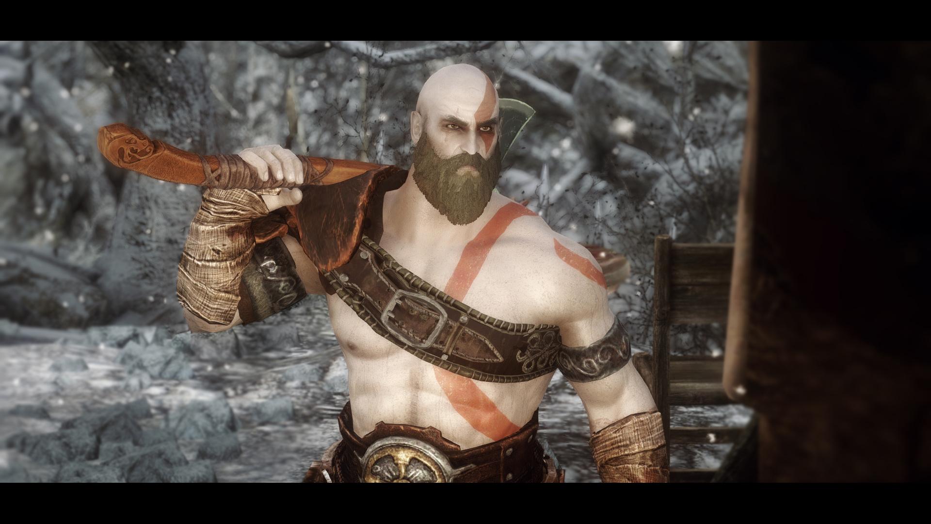 PC Skyrim God of War Mod Released