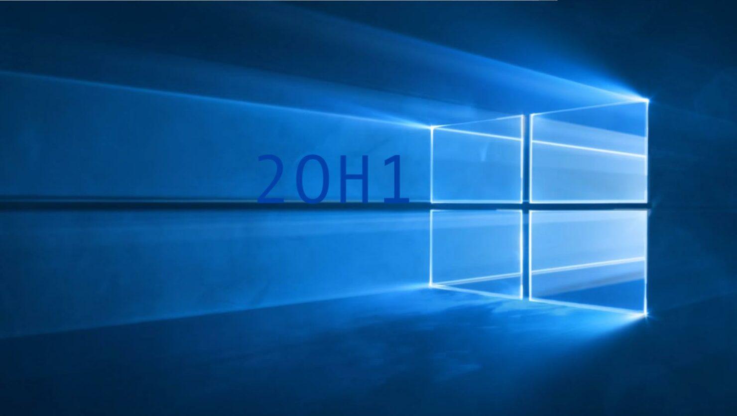 windows 10 20h1 windows 10 2020