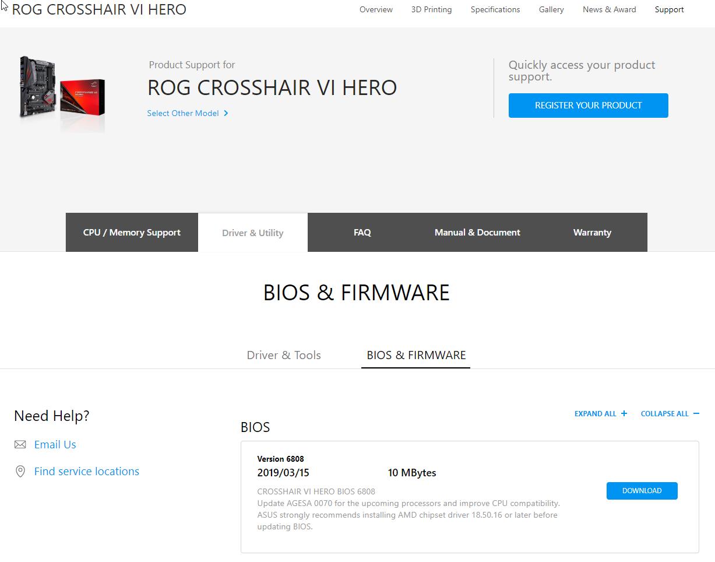 asus-rog-crosshair-vi-hero-amd-ryzen-3000-series-bios-support