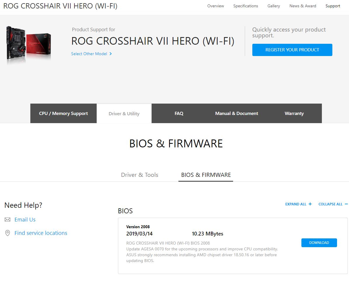 asus-rog-crosshair-vii-hero-amd-ryzen-3000-series-bios-support