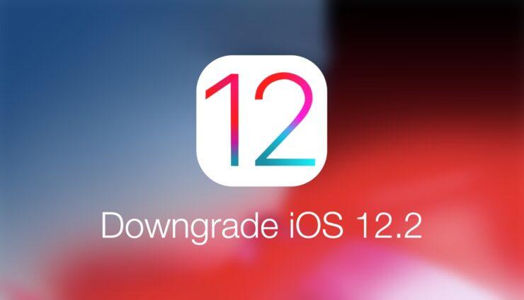 Downgrade iOS 12.2