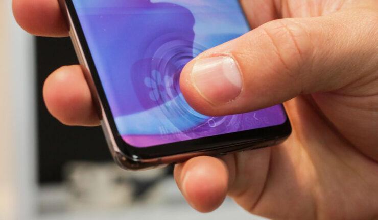 Galaxy S10 ultrasonic fingerprint scanner