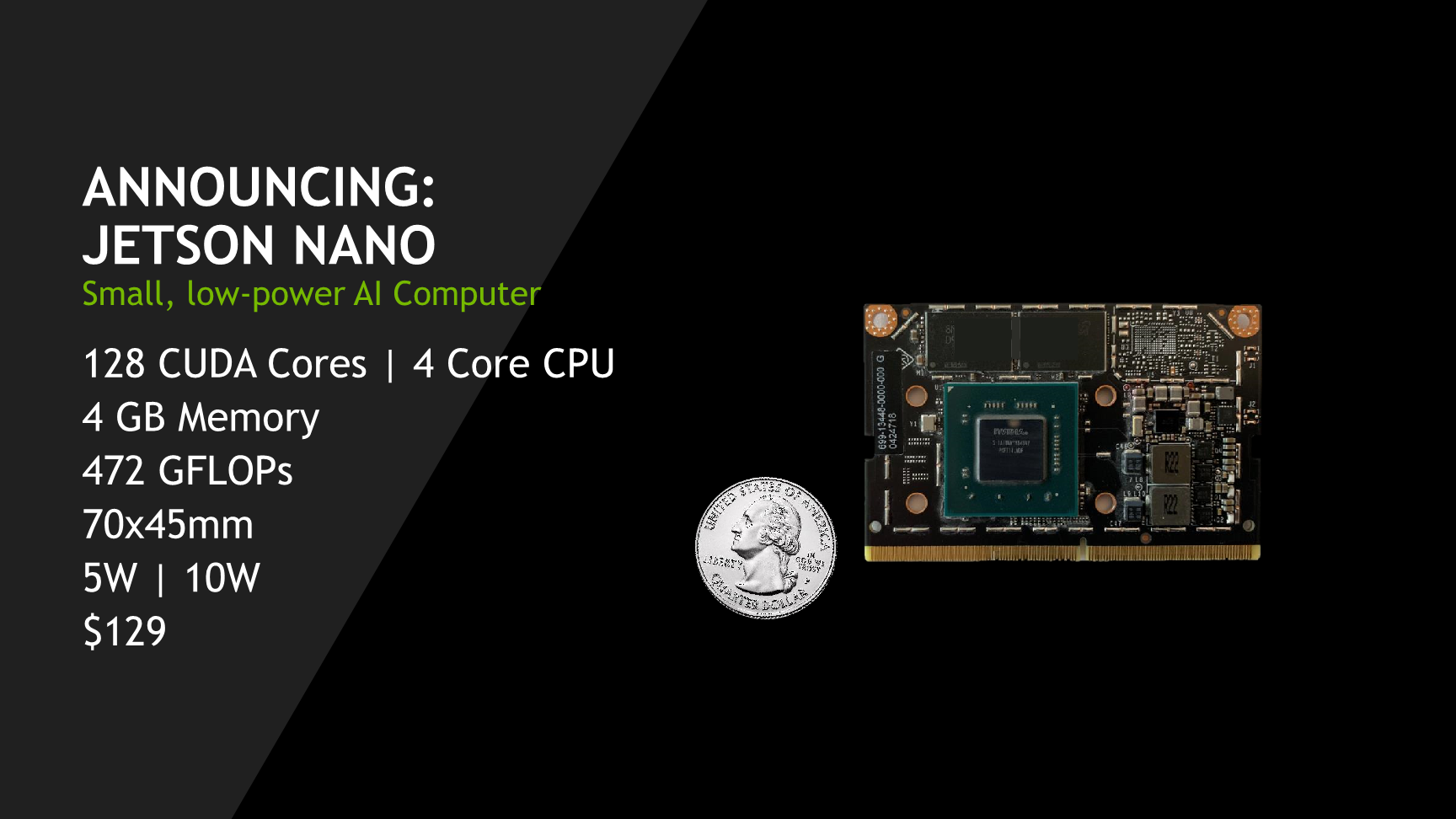 NVIDIA Announces The Jetson Nano - A $99 Low Power Computer