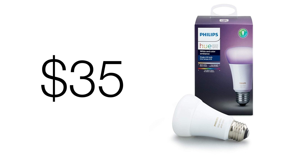 pick up a single philips hue rgb light bulb for just 35 today instead of 50. Black Bedroom Furniture Sets. Home Design Ideas