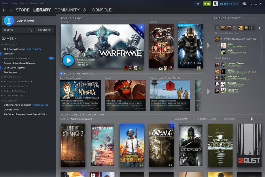 Steam's redesigned library will show what's happening with your games