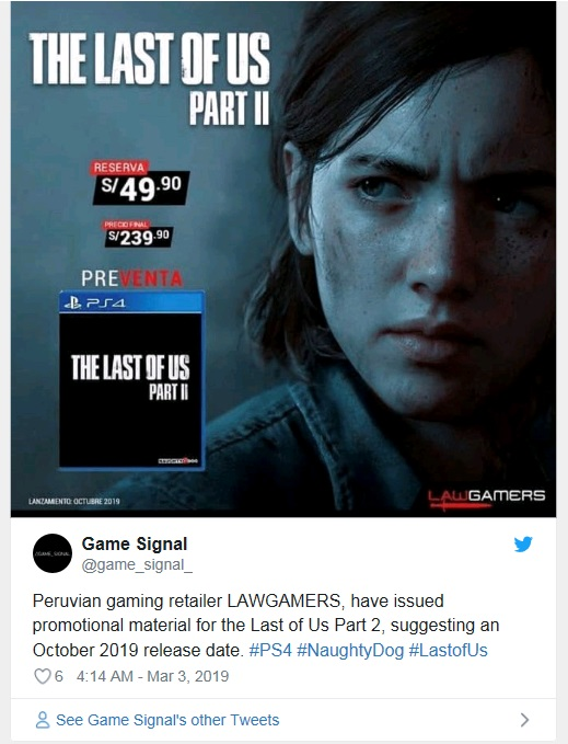 the last of us part 2 release date october 2019