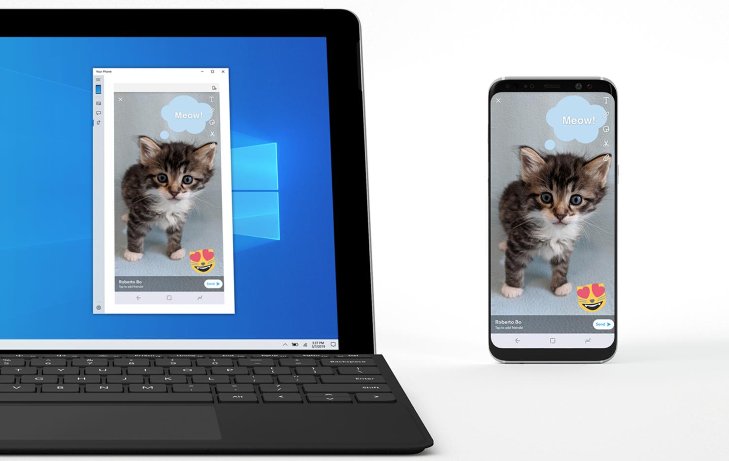 windows 10 android screen mirroring phone screen