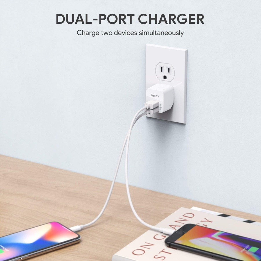 Deal Alert Get This Aukey Dual Usb Port Charger Today For