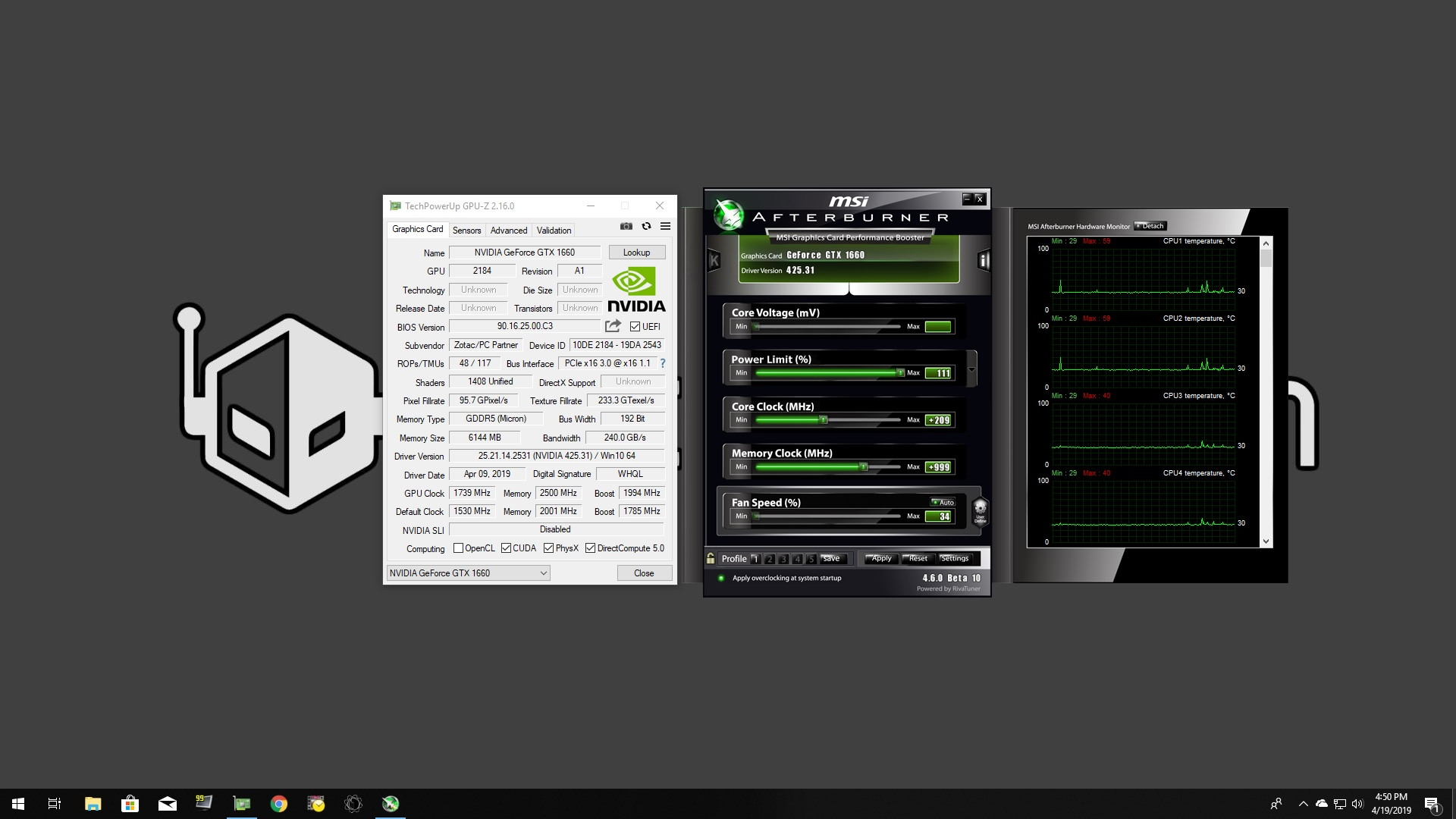 Overclocking The Zotac Gaming GeForce GTX 1660 For