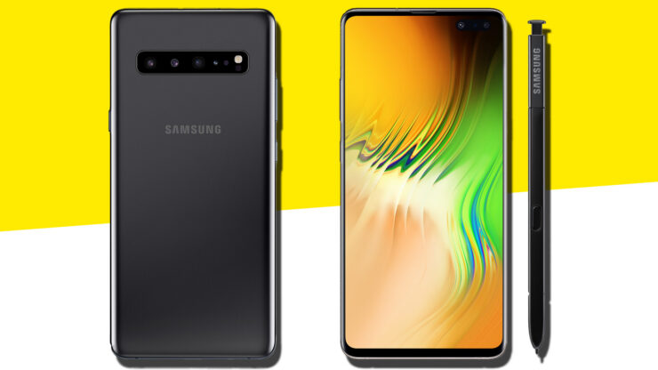 Galaxy Note 10 four models different screen sizes