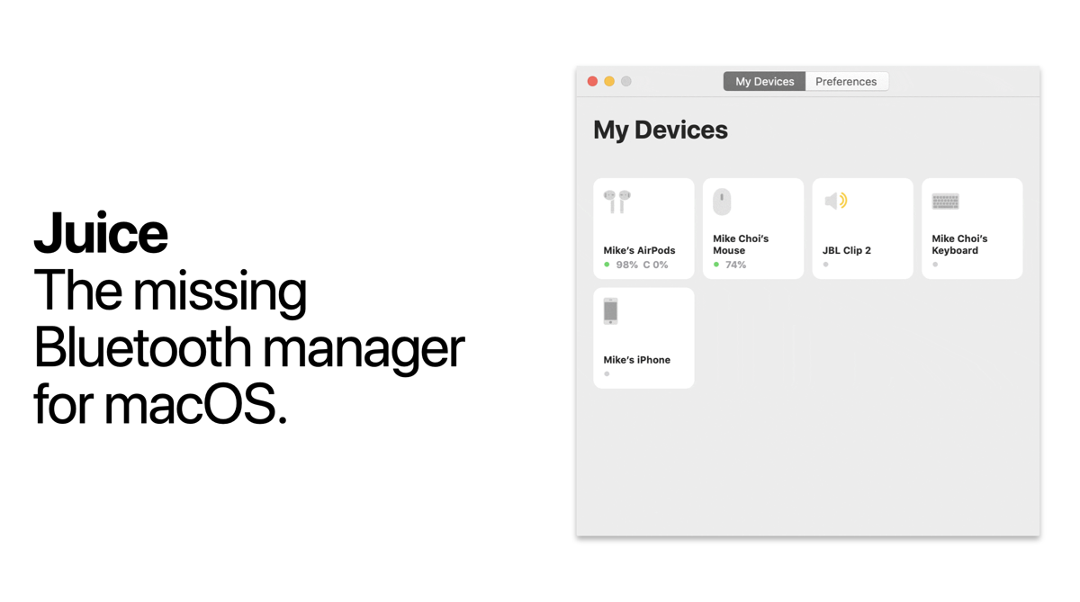 Juice is a Bluetooth Manager Which Apple Should Have Made