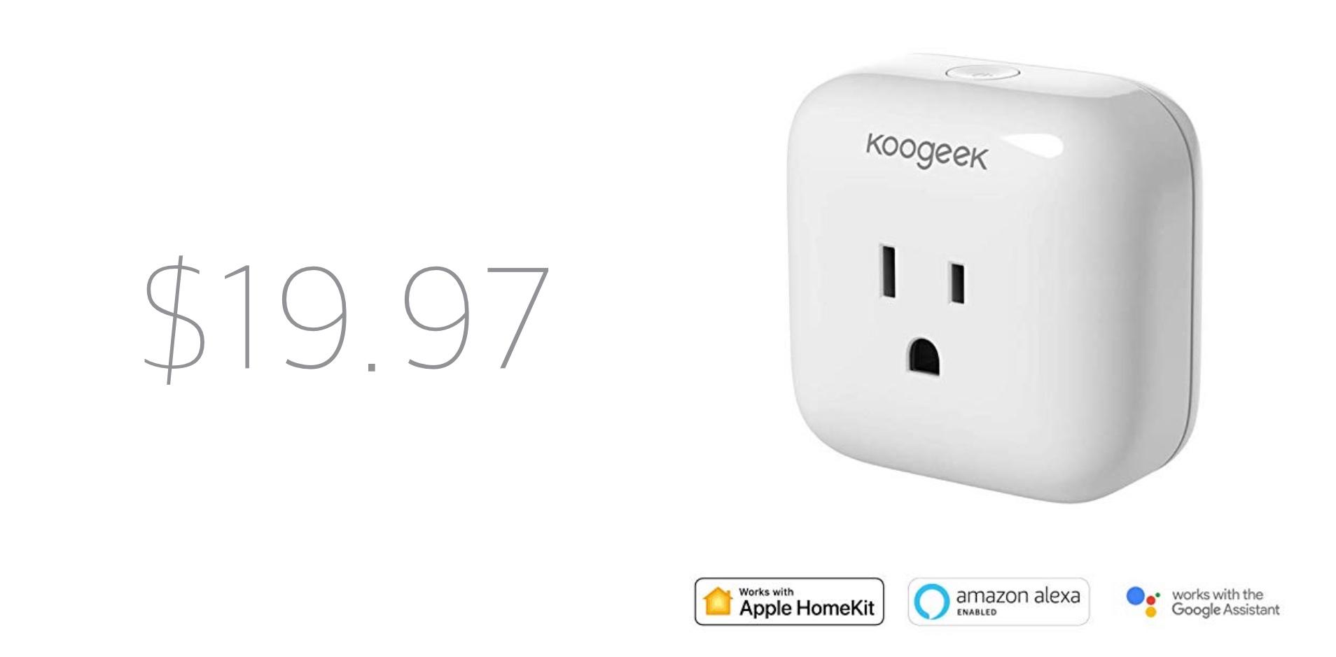 Koogeek is Offering a HomeKit Smart WiFi Plug for Just $19 97
