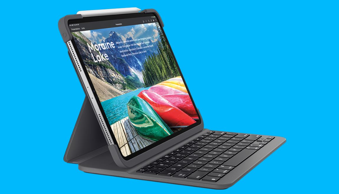 cdae50bddaa The iPad Pro has launched late last year and the company's Smart Keyboard  Folio cases alongside them. Now, Logitech has announced its first-ever  'Slim Folio ...