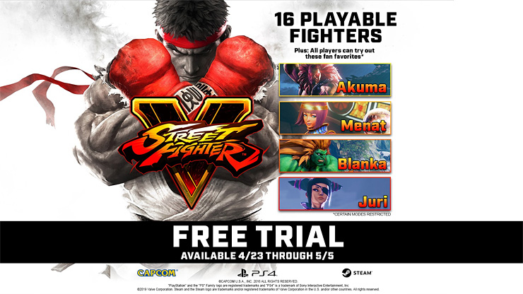 Street Fighter V Free Trial Kicks Off Tomorrow, Will Include 20 Fighters