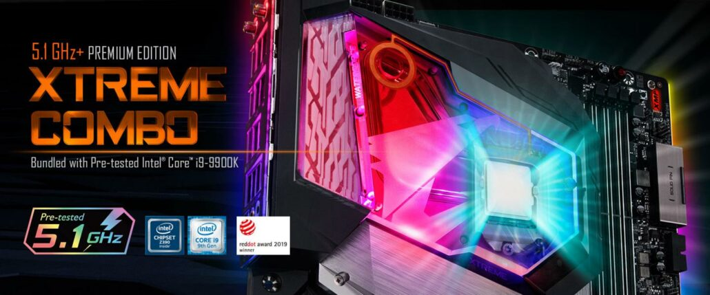 Gigabyte has bundled their flagship Z390 AORUS Xtreme Waterforce board with the Intel Core i9-9900K, pre-overclocked to 5.1 GHz for $1600 US.