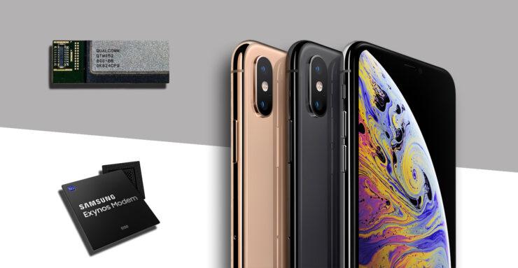 Apple 5G modems Qualcomm and Samsung