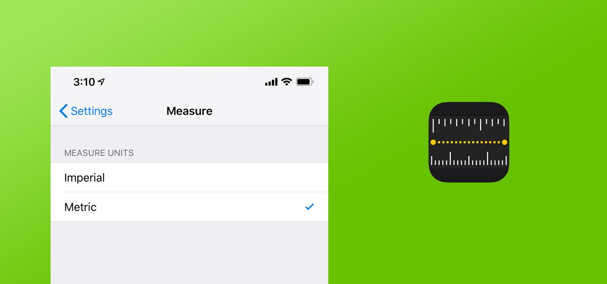 Switch Between Imperial or Metric Units in Measure App for