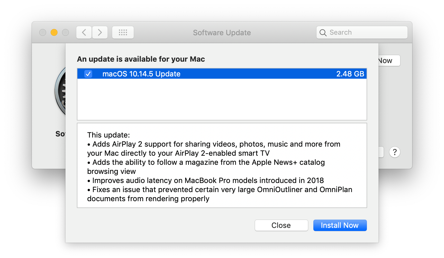 macOS 10 14 5 with AirPlay 2 Support, tvOS 12 3 with Updated