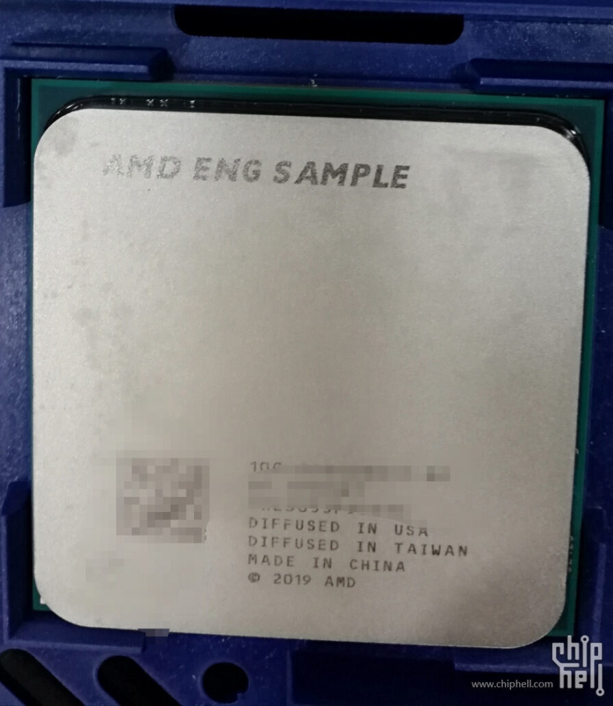 AMD Ryzen 3000 CPU Engineering Sample