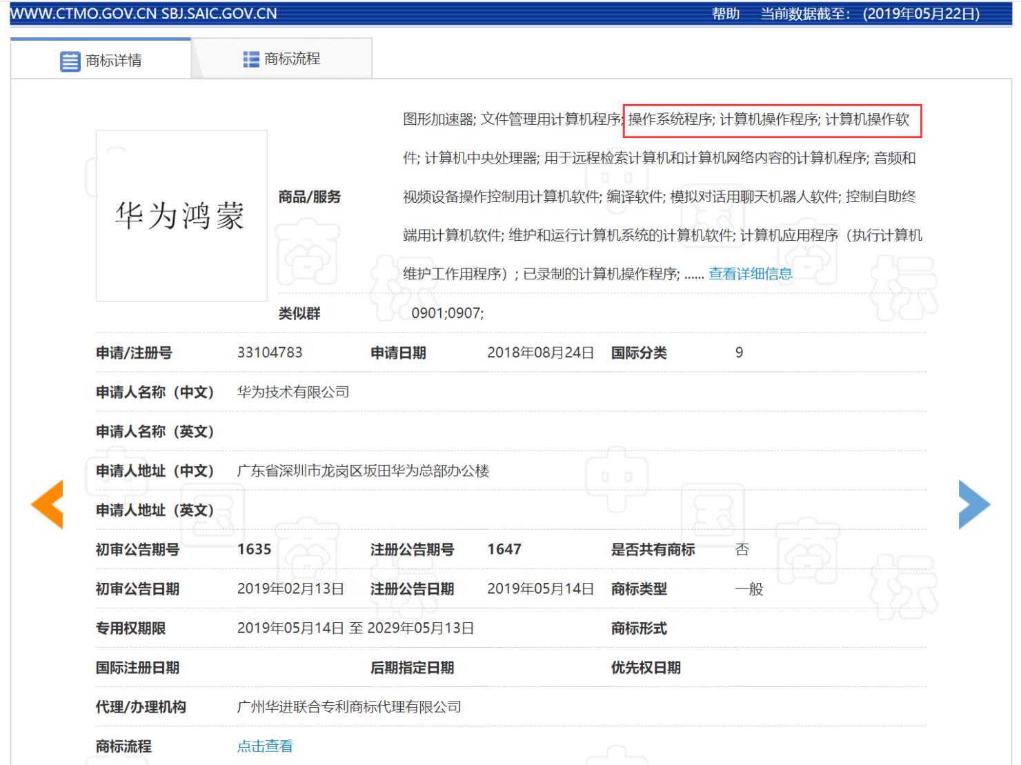 hongmeng-trademark