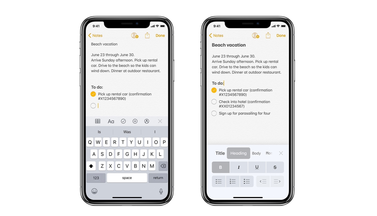 Start a Note Directly from Body, Title or Heading in Notes App for iPhone or iPad
