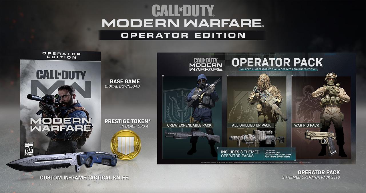 Call of Duty: Modern Warfare Customizable Operators and