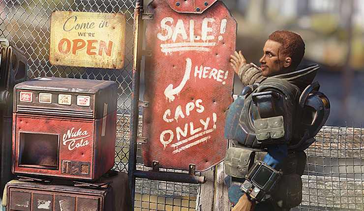 Fallout 76's Next Update Will Let You Open a Shop, Trade in