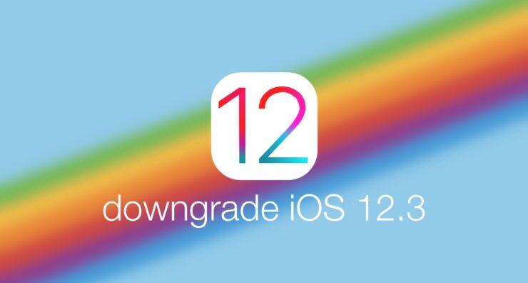 downgrade iOS 12.3