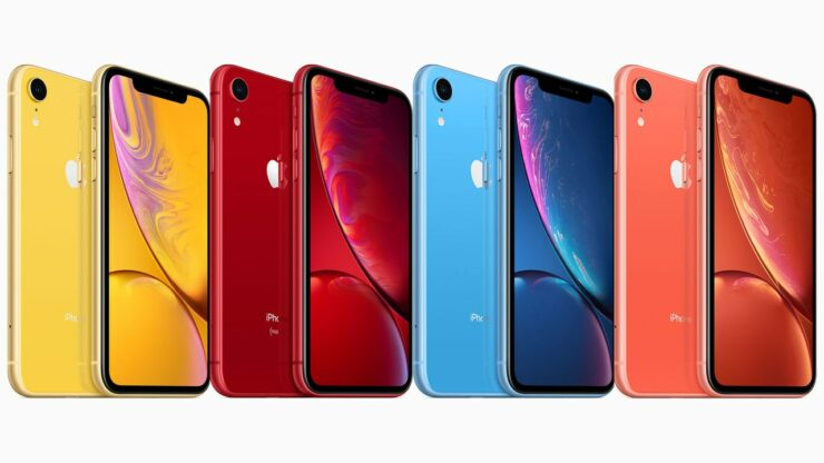 Apple iPhone XR 2019 six colors