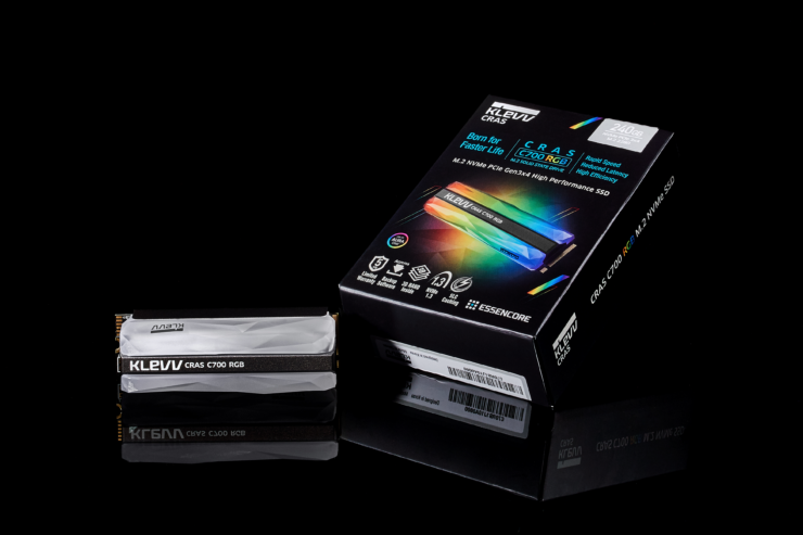 Klevv CRAS C700 RGB NVMe M 2 SSD Launched With Full On RGB