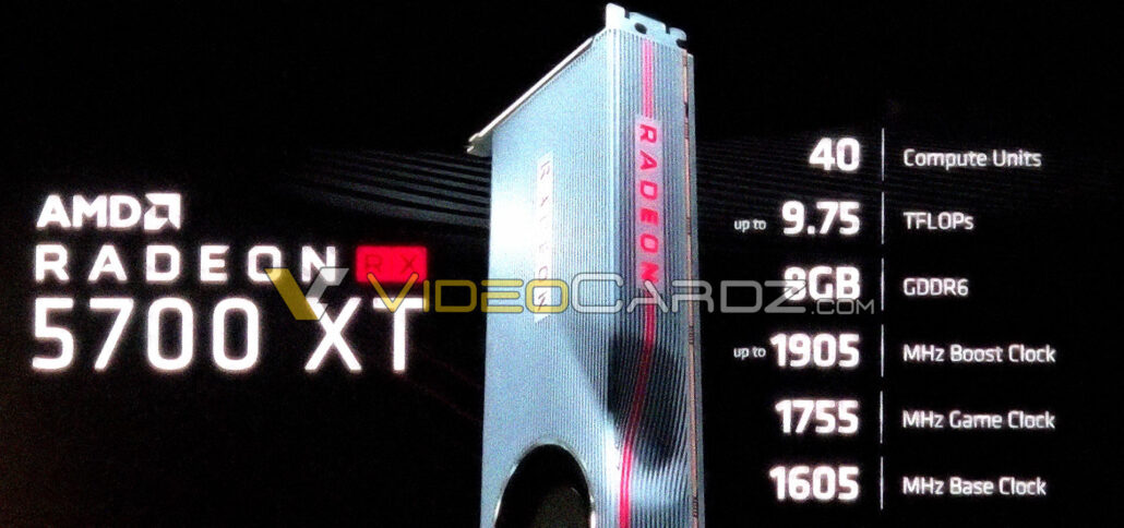 The first picture of AMD's next-gen Radeon RX 5700 XT graphics card with RDNA based 7nm Navi GPU. (Image Credits: Videocardz)