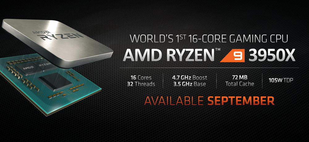 AMD Ryzen 9 3950X 16 Core CPU Listed Online For 30th September