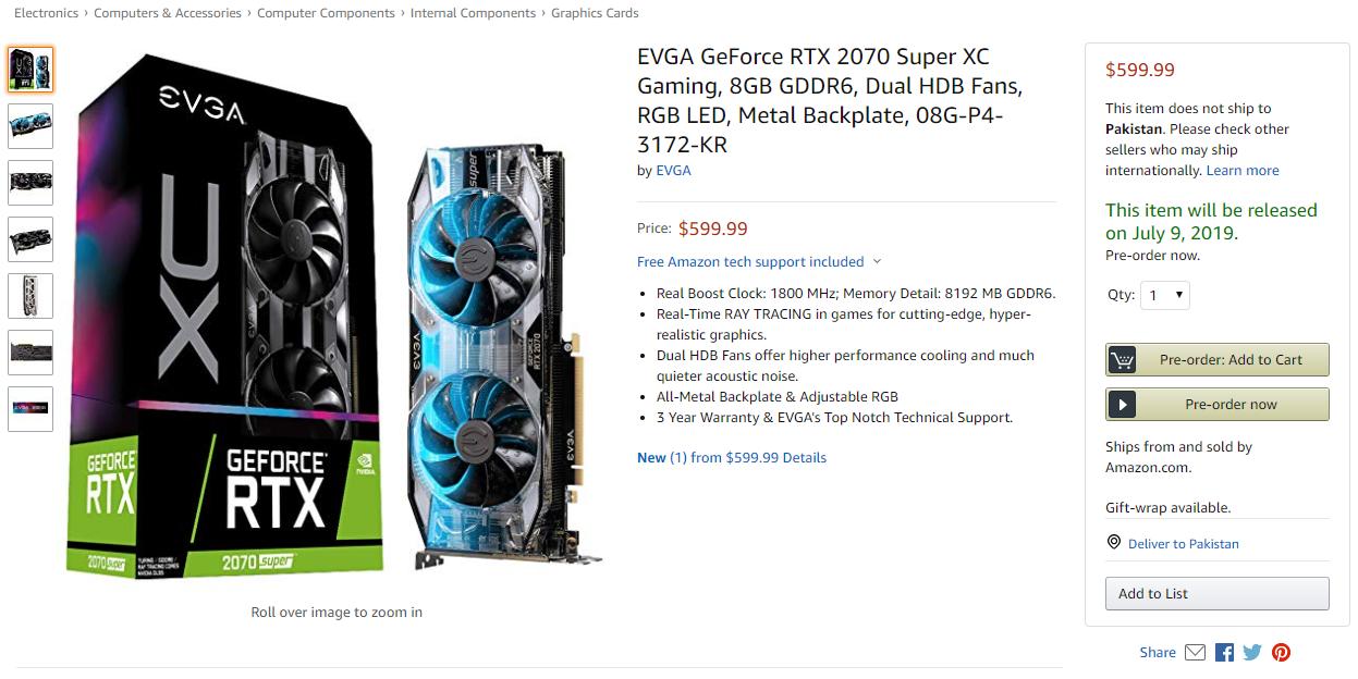 NVIDIA GeForce Super Graphics Card, NVIDIA GeForce RTX 2070 SUPER, NVIDIA GeForce RTX 2060 SUPER