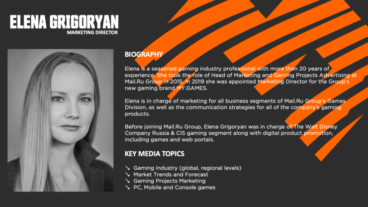MY.GAMES Interview with Elena Grigoryan