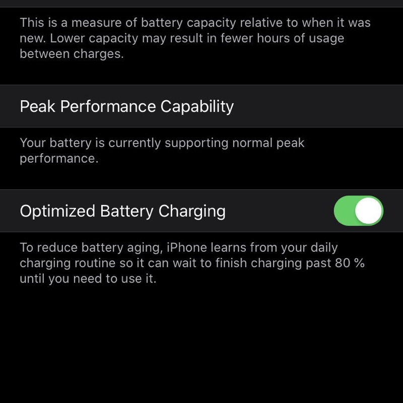optimized battery charging