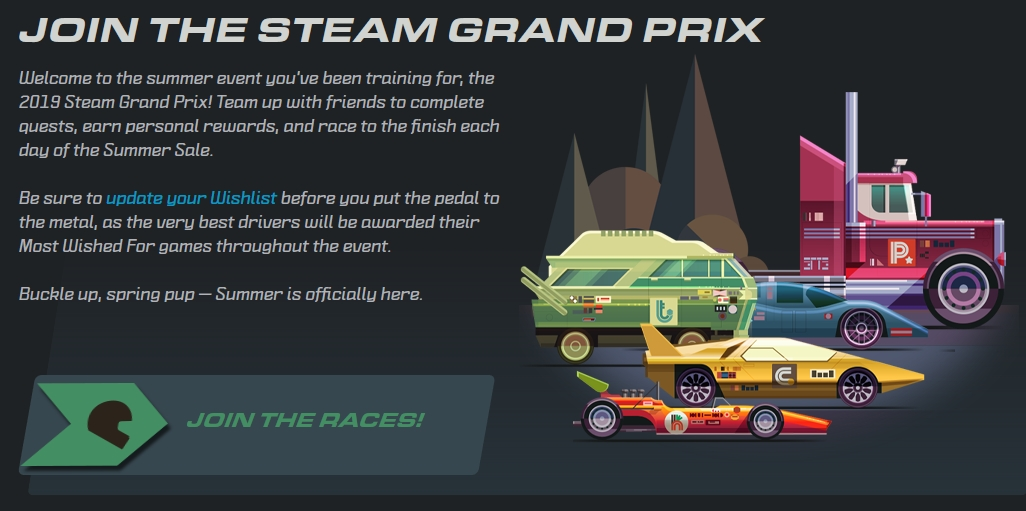 Steam Summer Sale is Here - Enter the Grand Prix to Win Free