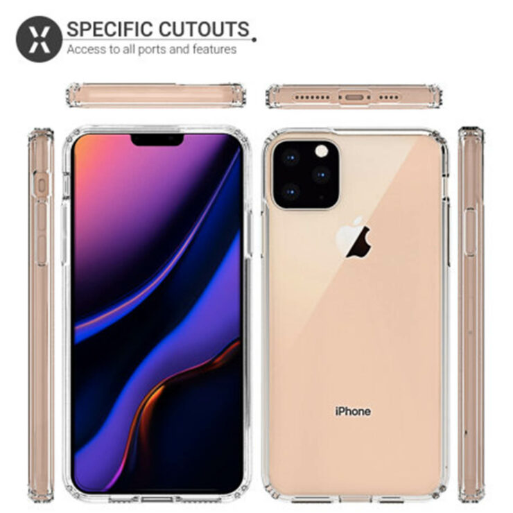 iPhone 11 Max Olixar case renders triple camera