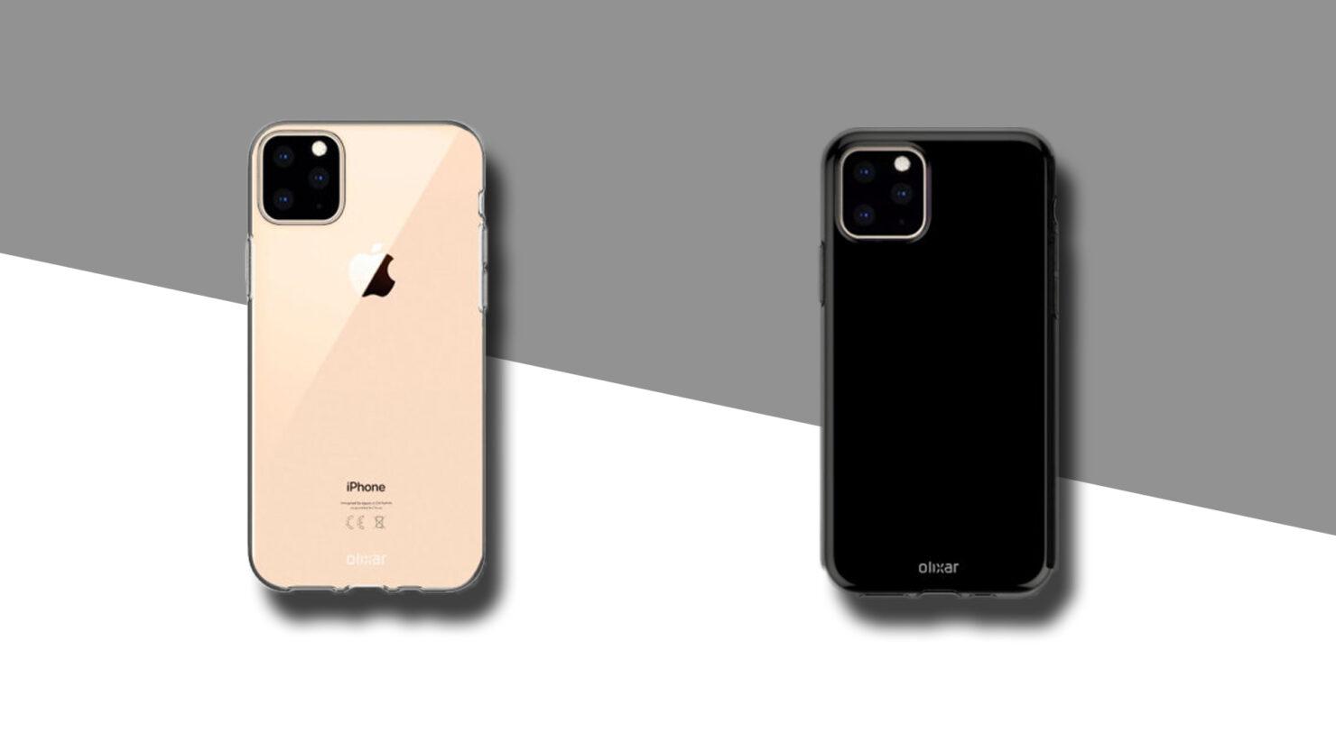 iPhone 11 Max Olixar case renders triple camera