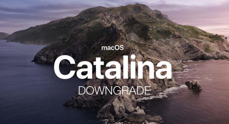 Downgrade macOS 10.15 Catalina