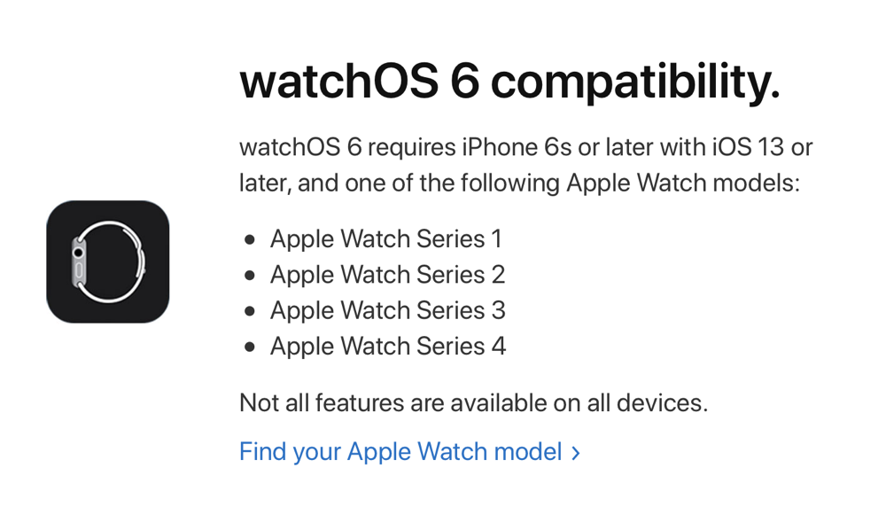 brand new bd19f 62f03 watchOS 6 Works with Apple Watch Series 4, 3, 2 and 1