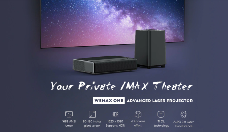 Wemax One Pro Ultra Short Throw Laser Projector Goes On