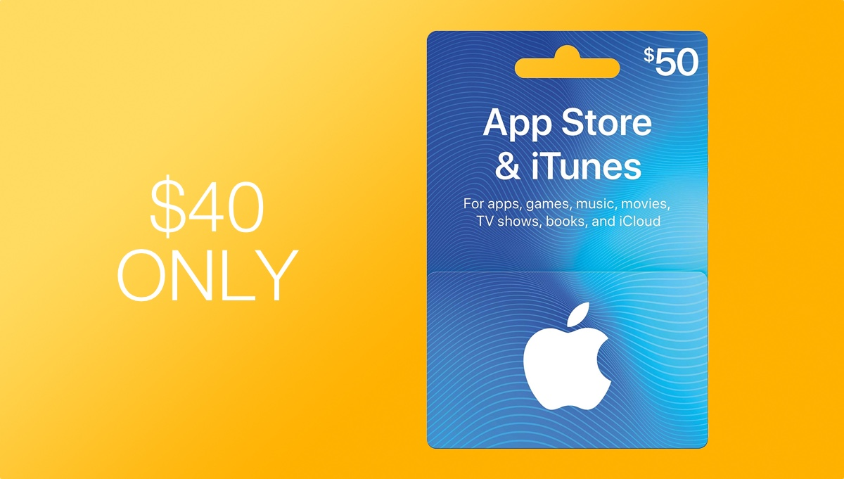 $50 iTunes Gift Card Discounted to Just $40 Today for Prime Day