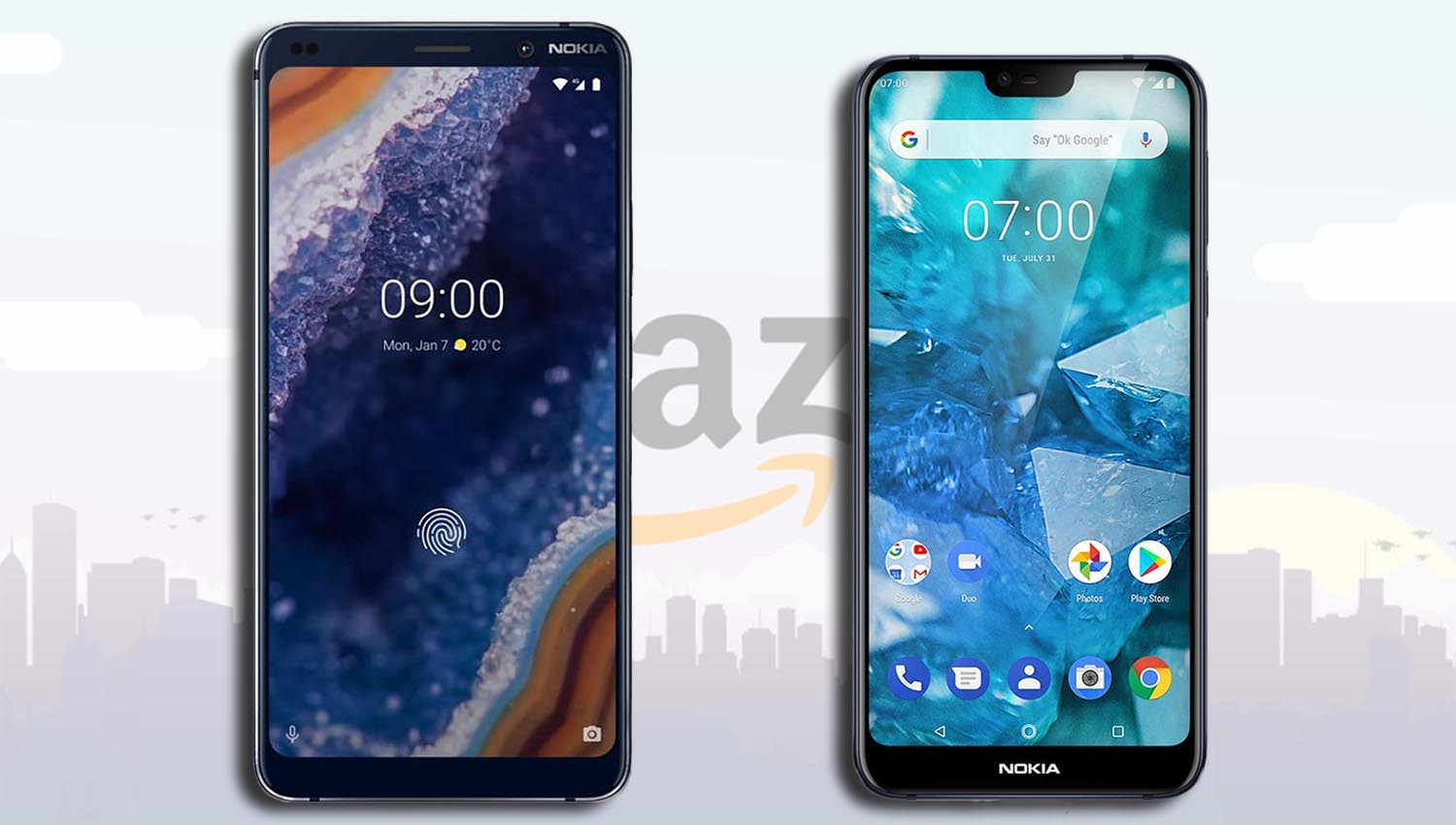 Nokia 9 PureView, Nokia 7 1, Both Unlocked Android One