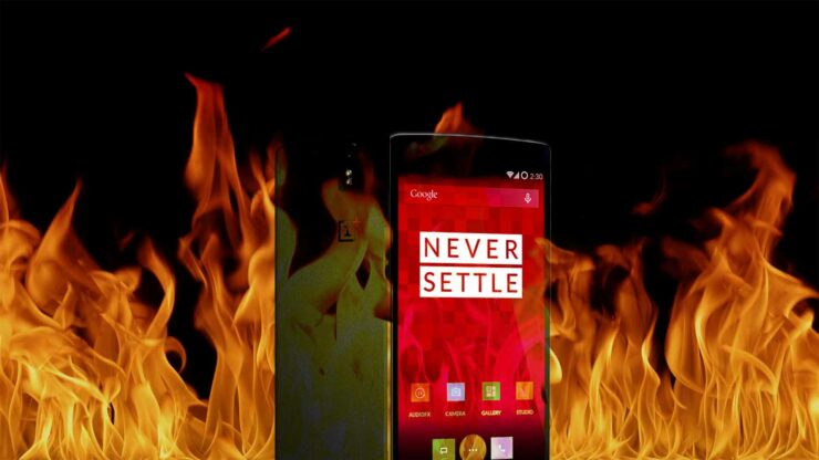OnePlus One catches fire middle of night