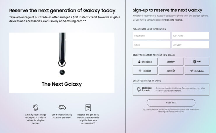 You can now reserve your Galaxy Note 10