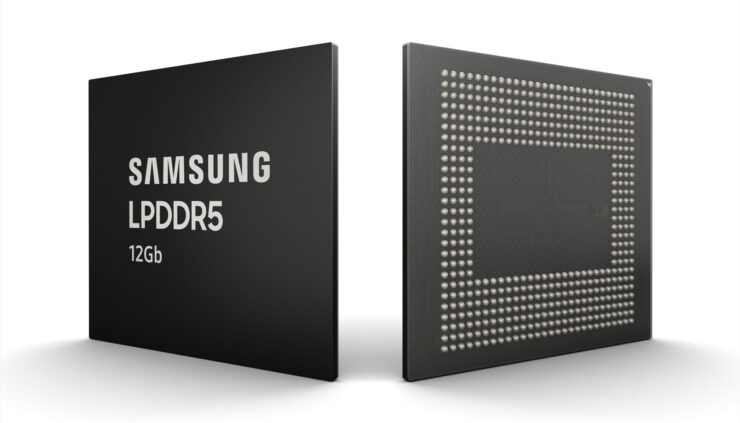 Samsung starts mass production of 12Gb LPDDR5 RAM for mobile phones