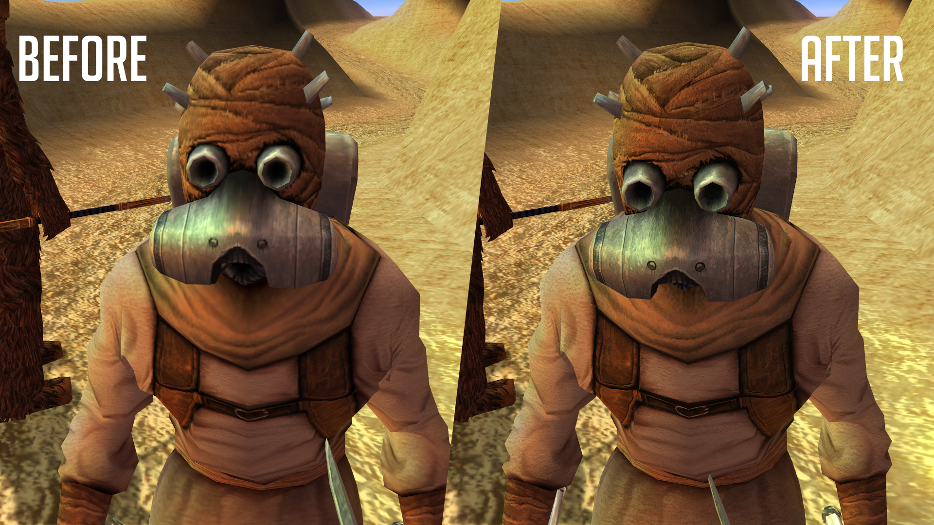 Star Wars KOTOR I & II ESRGAN AI-enhanced HD Texture Packs Overhaul